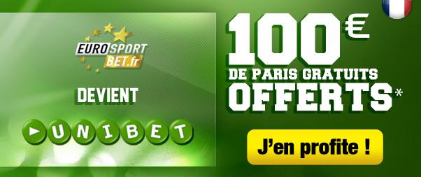 Unibet 100 euros offerts